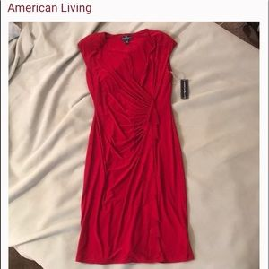 Gorgeous Red Ruched Dress
